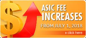 Asic Fee Increase July 1, 2018