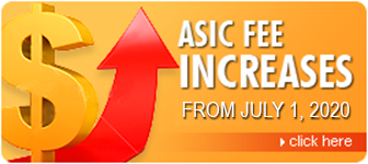 Asic Fee Increase July 1, 2020